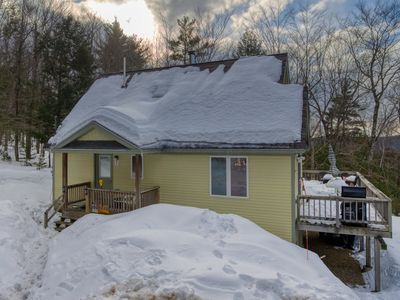 Photo for Dog-friendly bungalow w/ a warming wood stove, furnished deck, & gas grill!