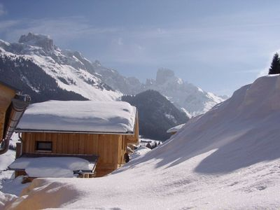 Photo for Spacious wooden house directly on the ski slope in a hiking area-panoramic view