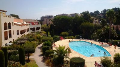 Photo for Beautiful 2 bedroom apartment in a residence with swimming pool at 500 m beach