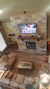Photo for Beautiful 4 bed cabin, pool table,hot tub,fire pit and plenty of room