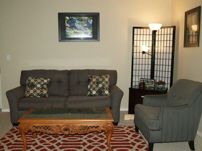 Photo for Center of Town w/ Fireplace - free Wi-Fi.