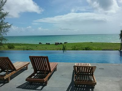 Photo for Black Pearl Beachfront Villa.  Luxurious privacy on quiet beach.