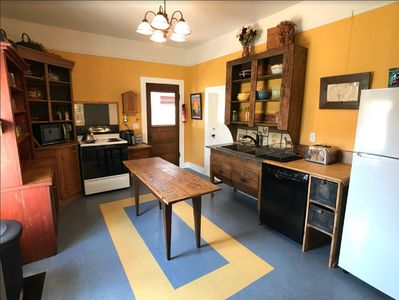 """Kitchen - stocked with all the utensils you need plus lots of """"eye candy""""."""