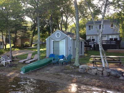 Photo for Beachfront on Indian Lake!  Sandy beach, dock, family and pet friendly!