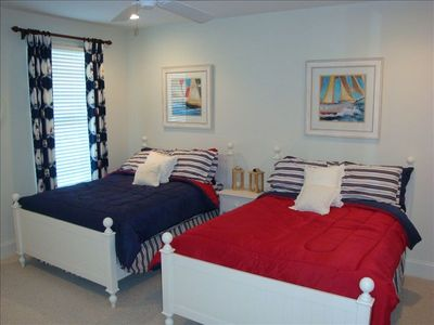 FIRST FLOOR BEDROOM  WITH TWO FULL BEDS