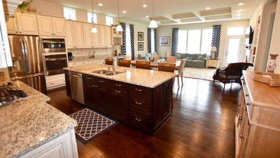 Great Room w 10' Ceilings and Wide Open Design (Kitchen, Dining Rm & Family Rm.)