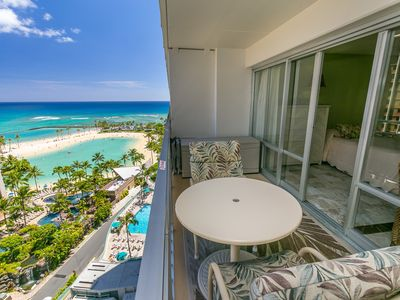 Photo for Aloha Condos, Ilikai Hotel Condos, Condo 1530, Beach View, AC