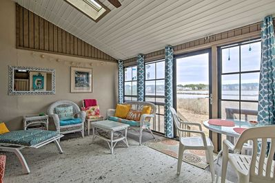Slip away to the coast for a stay at this vacation rental townhome on Salt Pond!