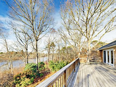 Deck - Gorgeous views of the pond from the home's private back deck.