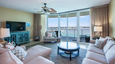 Photo for Bay Views from a Private Balcony Oasis | Complimentary Boat Slip