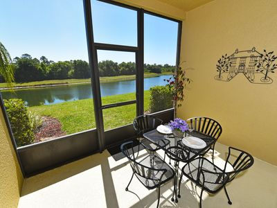 Photo for Top-ranked, Closest Resort (1.5 Miles) to Disney. Huge 3-Bedroom Lake View Villa