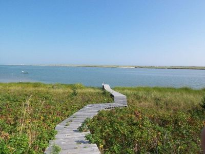 Photo for Waterfront 4 bedroom, 3 bath home.  Spectacular 180 degree view of Katama Bay