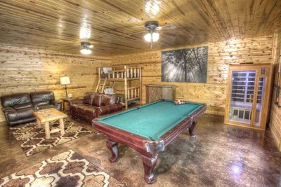 Downstairs with pool table