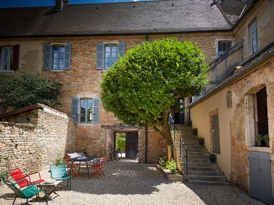 Photo for Former convent from the 17th, renovated, private garden, Beaune center