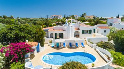 Photo for Beautiful Spacious Villa With Private Heated Pool, Sea and Mountain Views