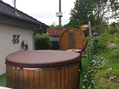 Photo for Bungalow at Heeder See with sauna, bath tub, plunge pool, 8 pers., Wi-Fi,