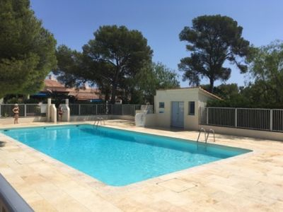 Photo for APARTEMENT 4 PEOPLE, SWIMMING POOL, PARKING, QUIET, TERRACE, BEACH 50 METERS