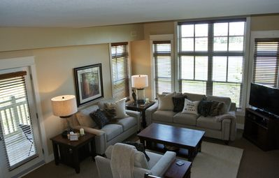 Beautiful large floor to ceiling windows bring in lots of light.