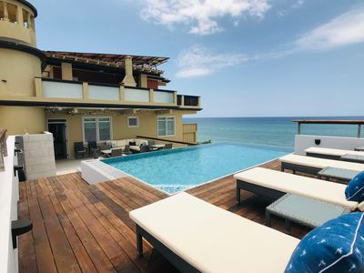 Photo for ★ Beachfront ★ Infinity-Edge Pool ★ Like-New ★ Free Parking ★ WiFi ★ A/C'd Bdrms