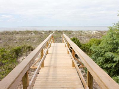 Photo for Perfect oceanfront family hideaway, pet friendly with a private path to the beach