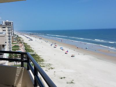 Photo for Daytona Beach Shores Ocean-Front.   NO TRAFFIC or DRIVING on the BEACH!