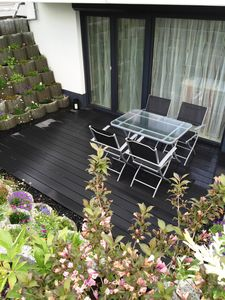 Photo for Apartment and in a quiet location with a beautiful terrace near Lake Constance. Messe Friedrichshafen
