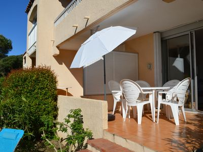 Photo for 2 rooms on the ground floor, 300 m from the beach in the Gulf of St Tropez