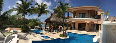 Photo for PRINCESA VILLA Private Pool Jacuzzi Water Slide Lagoon/Ocean Dolphin Marina