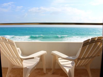 Photo for Caribbean Oceanfront 2 Bed/2 Bath Condo With Heated Rooftop Pool