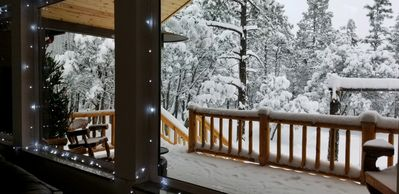 Photo for A LUXURY RETREAT! CABIN IN THE WOODS, CUSTOM BUILT