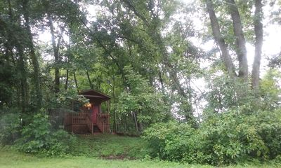 """Photo for Lost Spur Ranch"""" Grey Wolf Cabin """" Nestled in the Ozark Mountains"""