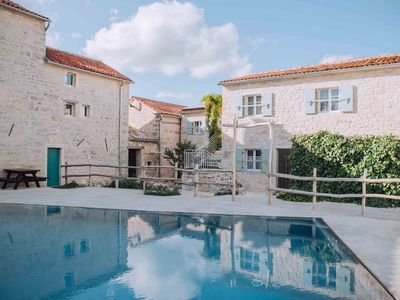 Photo for Blue apartment with pool