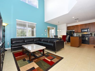 Photo for Beautiful 6 Bed Gated Pool Home At Aviana Resort