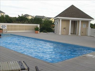 Private neighborhood pool, 30 second walk from front door! With two bathrooms