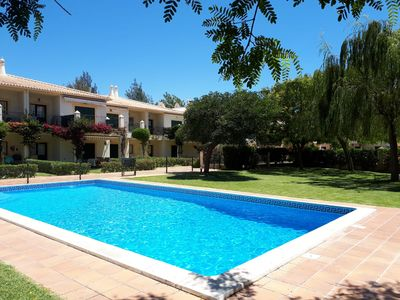 Photo for As a villa - 2 bedrooms, 2 bathrooms, pool, private garden and golf view!