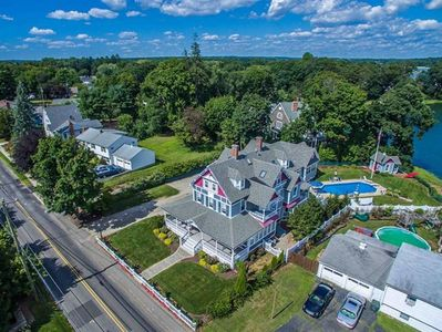 aerial view of Victorian Home built in 1880