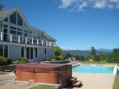 Photo for Luxury home; 360 Mountain Views, Hot Tub, Outdoor Pool, Sauna & Many Extras