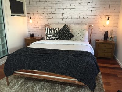 Comfy Queen size bed in main living