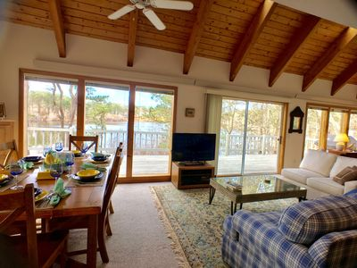 Photo for Pond Front with Views - Expansive deck, 3 BR, 3 Bath (sleeps 8) w/ Central A/C - BR0671