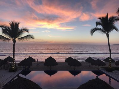 Photo for Nuevo Vallarta Oceanfront Condo...Two Steps to the Beach.