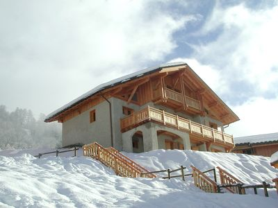 Photo for Large modern chalet Peisey-Vallandry Les Arcs in Paradiski.