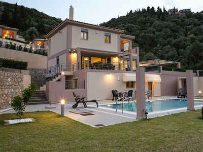 Photo for New! Spacious Villa (sleeps 13) with Private Pool and Sea View