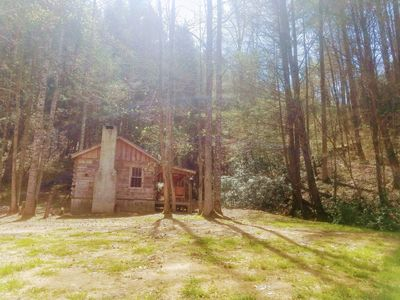 Photo for Rustic Appalachian Log Cabin with Creek!  UNPLUG with this glamping experience!