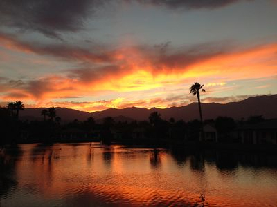 Photo for Remodeled Rancho Mirage: Lake & Mountain Views, Fire Pit, Golf Cart and Bikes