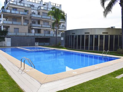 Photo for Large and luxury apartment  with communal pool in Oliva, on the Costa Blanca, Spain for 8 persons