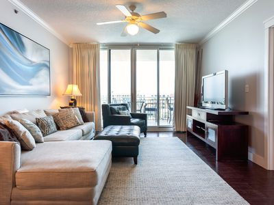 Photo for NEW! Amazing Top Floor Upgraded Waterscape Condo, Free Beach Service!