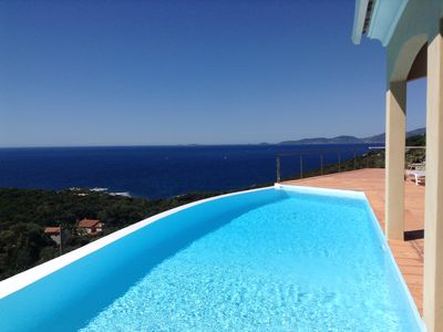 Photo for Beautiful 4 bedroom villa 190 m2 single pool 4 bathrooms sea view