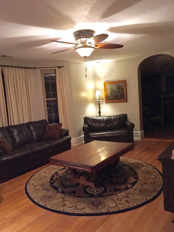 Living Room With 46 LCD TV Time Warner Cable Large DVD Library And