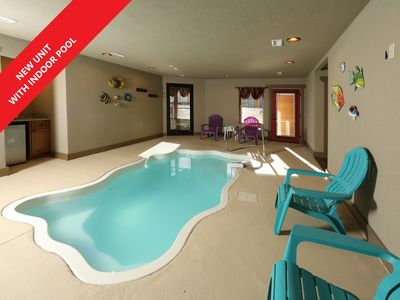 This 4 bedroom cottage with indoor pool and theater will amaze you!