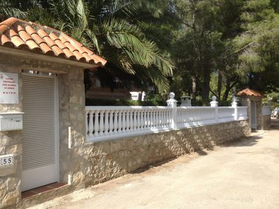 Photo for Conditioned Villa 9/10 people in large enclosed garden 150 m from the sea